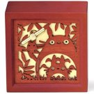 Music Box / Orgel - Wooden Box - Wood Carving Relief - Sekiguchi - Totoro - 2014 (new)