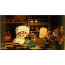 1 left - Bookmarker - Movie Film #28 - 6 Frame - Yubaba & Bou - Spirited Away - Ghibli Museum (new)