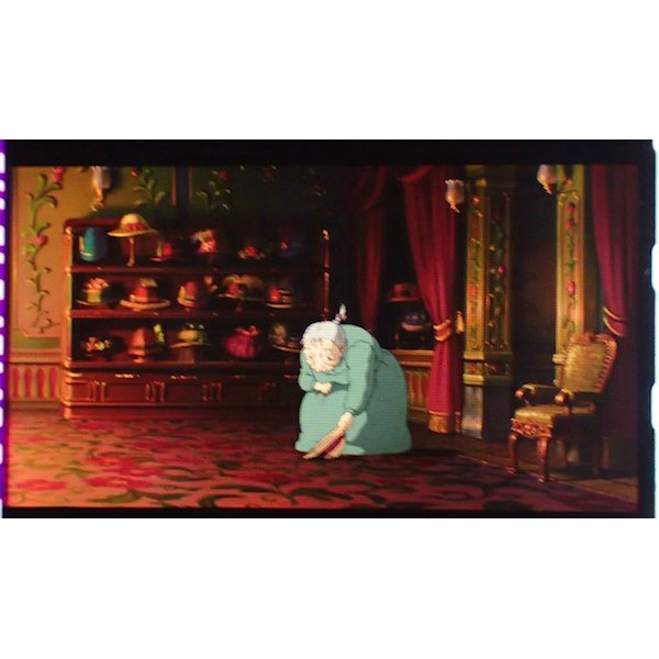 1left- Bookmarker - Movie Film #69 6 Frame Old Sophie - Howl's Moving Castle - Ghibli Museum (new)