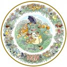 1 left - Yearly Plate 2015 - Wooden Stand - Noritake - made Japan - Totoro Mononoke Spirited (new)