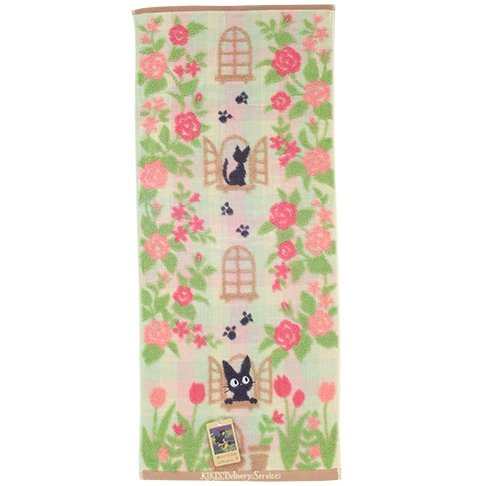 Face Towel -34x80cm- Jacquard - made in Japan -garden- Jiji - Kiki's Delivery Service - 2016 (new)