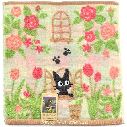 Hand Towel -34x36cm- Jacquard - made in Japan -garden- Jiji - Kiki's Delivery Service - 2016 (new)