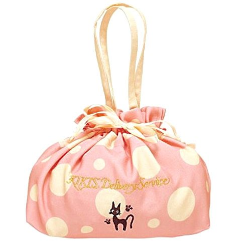 Kinchaku Bag - 31x29.5cm - pink - Jiji - Kiki's Delivery Service - Ghibli -2015- no production (new)