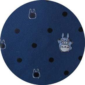 Necktie - Silk - Embroidery - Dot - navy - made in Japan - Totoro - Ghibli - 2016 (new)