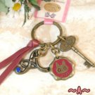 Key Ring - Alphabet A - 3 Charm - Colored Stone - Kiki's Delivery Service -2015- no production (new)