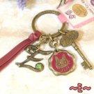 Key Ring - Alphabet E - 3 Charm - Colored Stone - Kiki's Delivery Service -2015- no production (new)