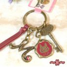Key Ring - Alphabet M - 3 Charm - Colored Stone - Kiki's Delivery Service -2015- no production (new)