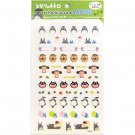 Sticker Set - 2 Sheets & Paper File - made in Japan - Totoro - Ghibli - Ensky - 2015 (new)