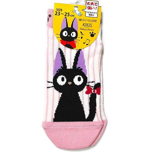Socks - 23-25cm - Short - Stripe - pink - Jiji - Kiki's Delivery Service - Ghibli - 2016 (new)