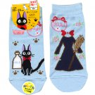 Socks -23-25cm- 2 Different Design - Short blue- Jiji - Kiki's Delivery Service - Ghibli -2016 (new)
