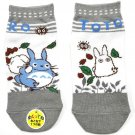Socks -23-25cm- 2 Different Design - Short grey - Totoro - Ghibli - 2016 - no production (new)