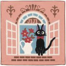 Cushion Cover - 45x45cm - Chainstitch & Chenille Embroidery - Kiki's Delivery Service - 2013 (new)