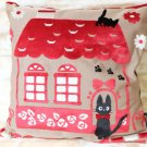 Cushion Cover - 45x45cm - Chenille Embroidery - House - Jiji - Kiki's Delivery Serivice -2015 (new)