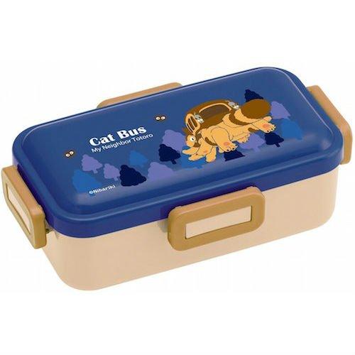 Bento Lunch Box - 530ml - 4 Lock - made in Japan - Cat Bus - Nekobus - Totoro - Ghibli - 2016 (new)