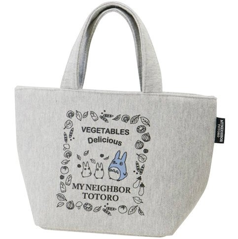 Lunch Bento Bag - Sweat Fabric - Hygroscopic Stretchable - Zipper - Totoro - Ghibli - 2015 (new)