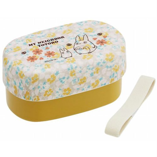 2 Tier Lunch Bento Box - 400ml - Belt - Oval - made in Japan - Totoro - Ghibli - 2016 (new)
