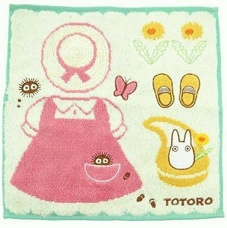 Mini Towel - 25x25cm - Jacquard Weaving - Mei Clothes - Totoro - Ghibli - 2016 (new)