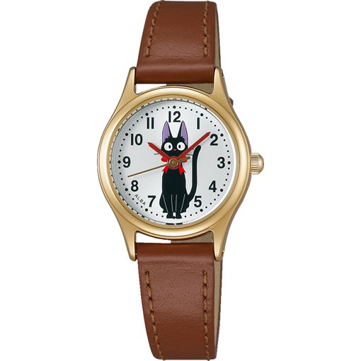 Wrist Watch - Quartz Hardlex Calfskin Belt Brown - Jiji - Kiki's Delivery Service - Seiko 2016 (new)