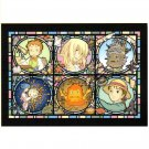 Jigsaw Puzzle -208 piece- Clear Color like Stained Glass -NO Glue- Howl's Moving Castle - 2016 (new)