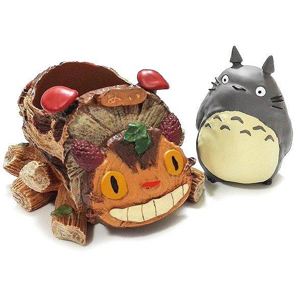 Planter Pot / Container - Figure - Nekobus & Totoro - Ghibli - 2016 (new)
