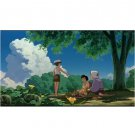 1 left - Movie Film #3 - 6 Frames - Mei & Satsuki & Kanta & Grandma - Totoro (Cut from a Real Film)