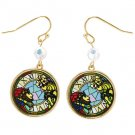 Pierced Earrings - Stained Glass Style - King & Queen - Whisper of the Heart - Ghibli - 2016 (new)