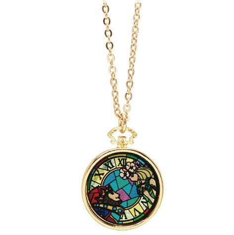 Necklace / Pendant - Stained Glass Style - King & Queen - Whisper of the Heart - Ghibli - 2016 (new)