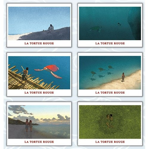6 Postcard Set - Made in Japan - Red Turtle / La Tortue Rouge - Ghibli - 2016 (new)