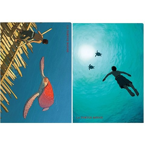 2 Clear File Set - Made in Japan - Red Turtle / La Tortue Rouge - Ghibli - 2016 (new)