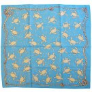 Scarf - 70x70cm - Made in Japan - Red Turtle / La Tortue Rouge - Ghibli - 2016 (new)