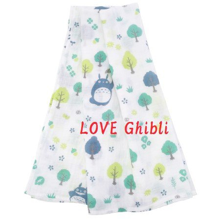 Towel / Blanket - 110x110cm - Muslin Gauze - Made in Japan - Totoro - Ghibli - 2016 (new)