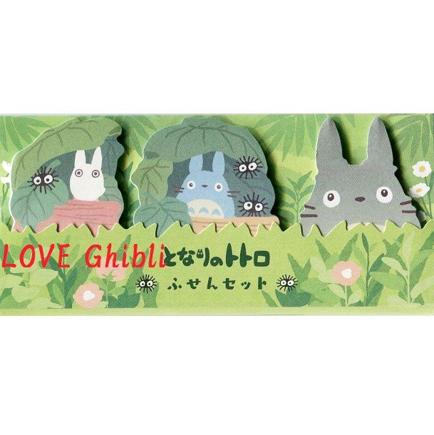 Post-it Note / Sticky Note - 3 Design x 20 Each - Sho & Chu & Totoro - Ghibli - 2016 (new)