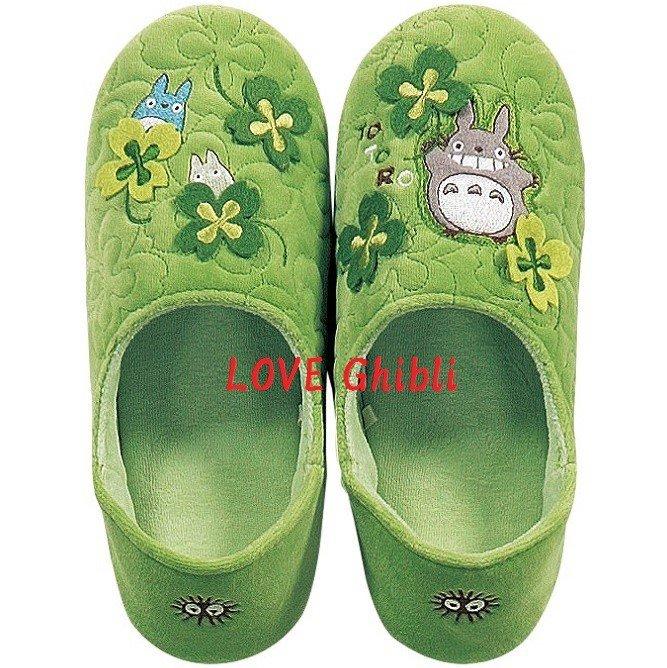 Slippers - 24cm / 9.4in - Memory Foam - Applique & Embroidery - Totoro - Ghibli - 2016 (new)