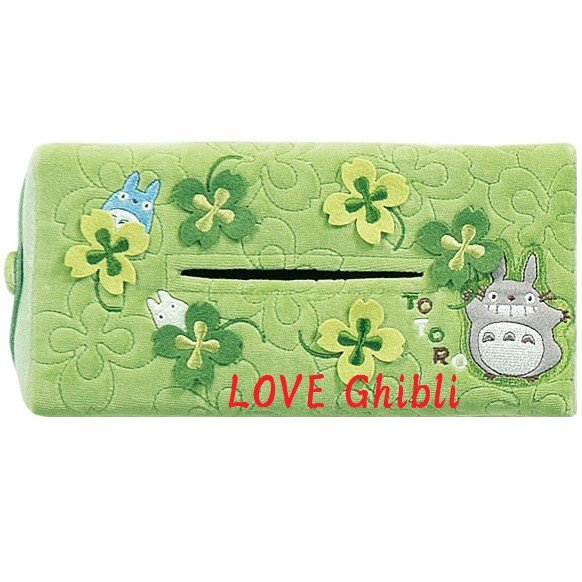 Tissue Box Cover - Applique & Embroidery - Totoro - Ghibli - 2016 (new)