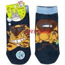 Socks - 23-25cm / 9-9.8in - Short - Strong Toes Heels - Navy - Nekobus Catbus - Totoro - 2016 (new)