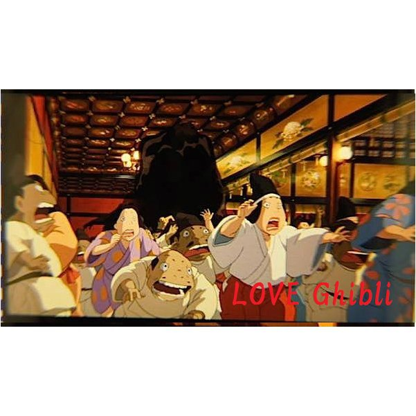 1 left- Bookmarker -Movie Film #13 -6 Frame- Kaonashi No Face - Spirited Away - Ghibli Museum (new)