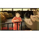 1 left - Bookmarker - Movie Film #16 - 6 Frame - Sen & Pigs - Spirited Away - Ghibli Museum (new)