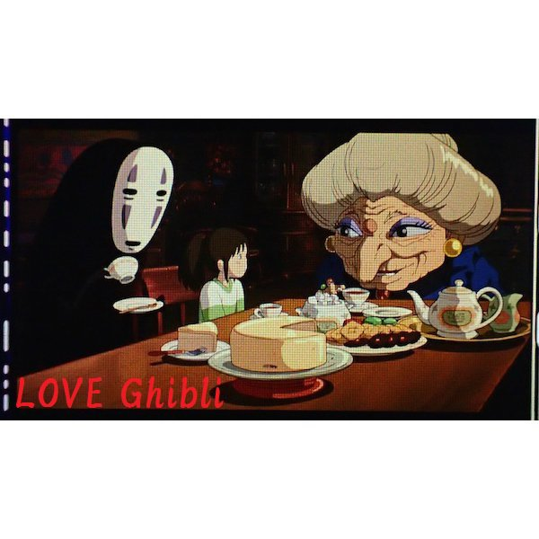SOLD- Bookmarker Movie Film #68- 6 Frame - Zeniba Kaonashi Sen - Spirited Away - Ghibli Museum(new)