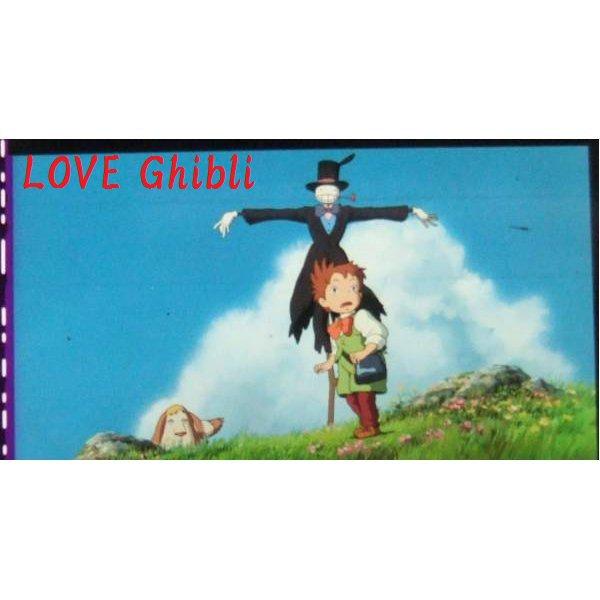 1 left- Bookmarker - Movie Film #10 - 6 Frame- Kabu Markl Heen - Howl's Moving - Ghibli Museum (new)