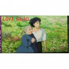 1left- Bookmarker - Movie Film #39- 6 Frame- Howl & Old Sophie - Howl's Moving - Ghibli Museum (new)