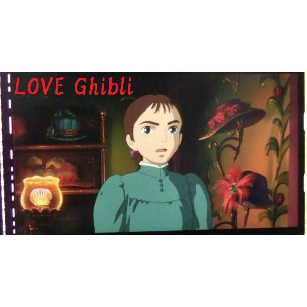 1 left - Bookmarker - Movie Film #42 - 6 Frame - Sophie - Howl's Moving - Ghibli Museum (new)