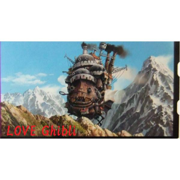 SOLD - Bookmarker - Movie Film #56 - 6 Frame - Castle - Howl's Moving Castle - Ghibli Museum (new)