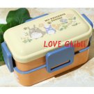 2 Tier Lunch Bento Box - 600ml - 4 Lock - Microwave - Made in Japan - Flower - Totoro - 2016 (new)
