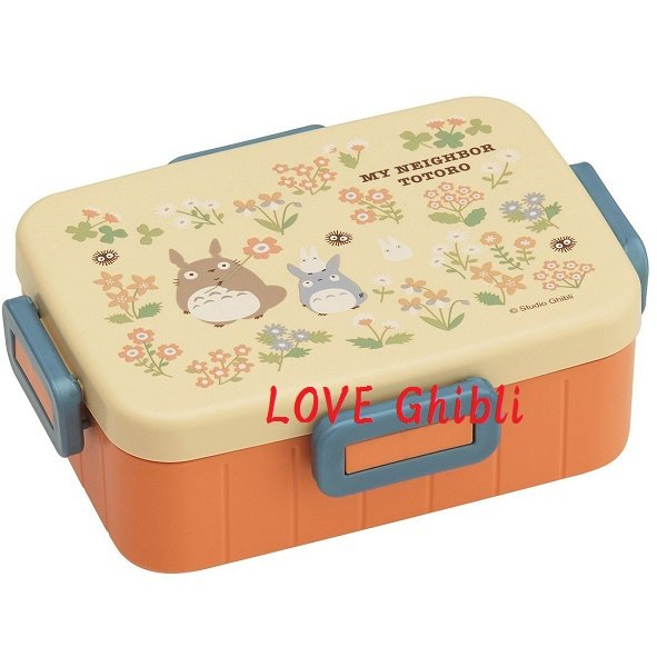 Lunch Bento Box - 650ml - 4 Lock - Microwave - Made in Japan - Flower - Totoro - 2016 (new)