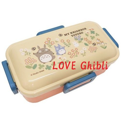 Lunch Bento Box - 530ml - 4 Lock - Microwave - Made in Japan - Flower - Totoro - 2016 (new)