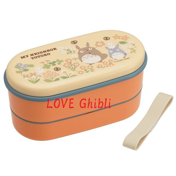 2 Tier Lunch Bento Box 630ml - Compact - Chopsticks Belt - Microwave- Made Japan - Totoro 2016 (new)