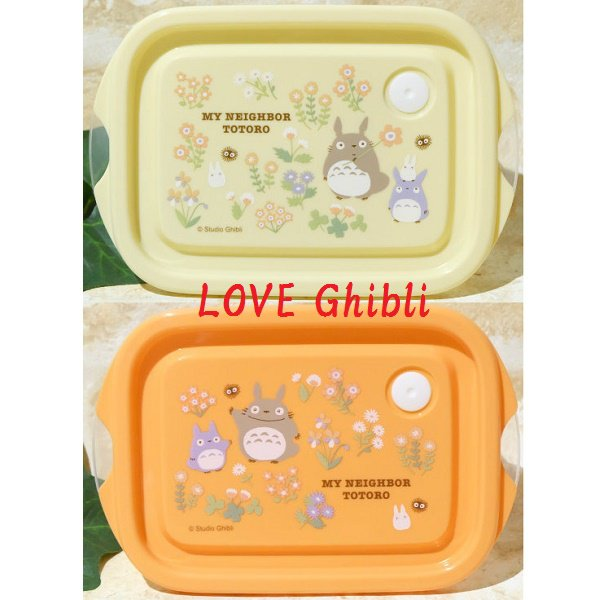 2 Lunch Bento Box / Tupperware 1000ml Compact - Air Valve Microwave - Japan - Totoro 2016 (new)