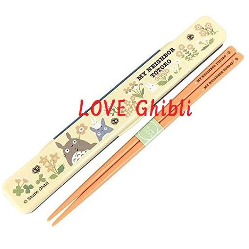 Chopsticks in Case - 18cm - Cushion - Made in Japan - Flower - Totoro - Ghibli - 2016 (new)