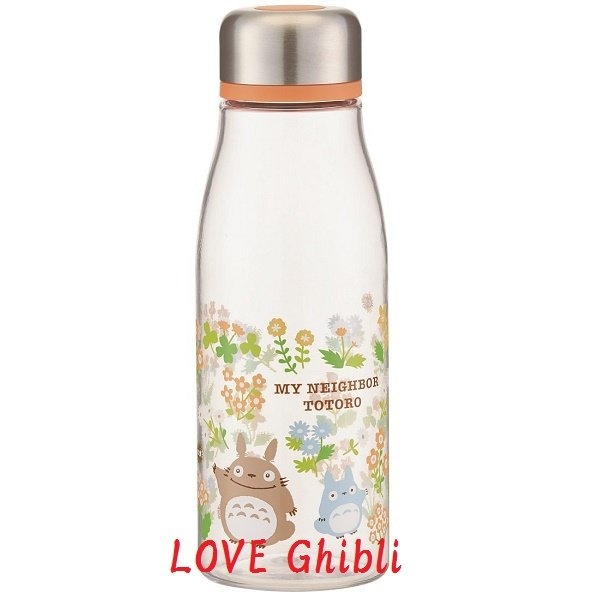 Clear Bottle - 500ml - Strainer & Lid Screw Type - Flower - Totoro - Ghibli - 2016 (new)