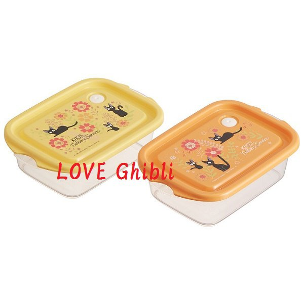2 Lunch Bento Box Tupperware 1000ml - Air Valve Microwave Japan Kiki's Delivery Service 2016 (new)